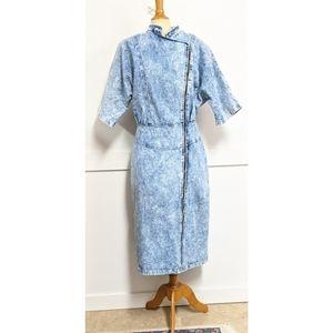 Vintage 1980s acid washed denim dress size 12-14